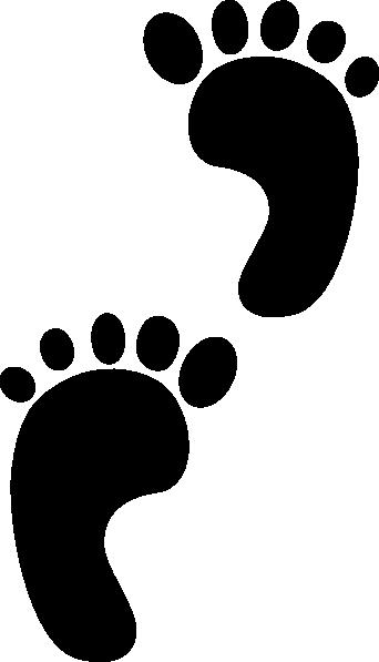 342x597 Human Footprint Clipart