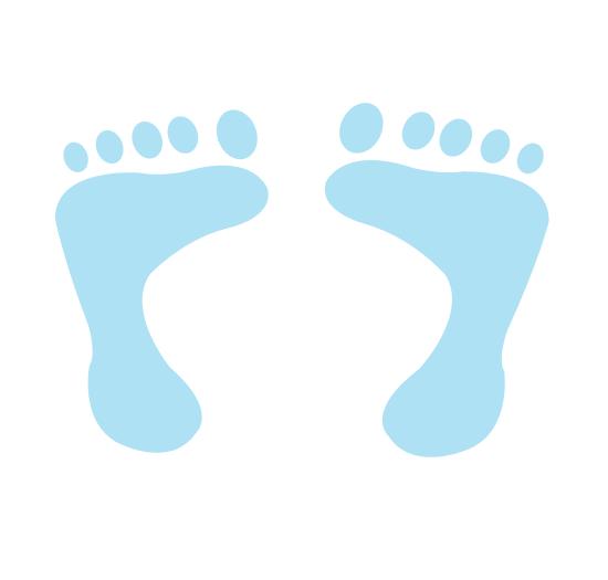 550x525 Baby Feet Clip Art 6