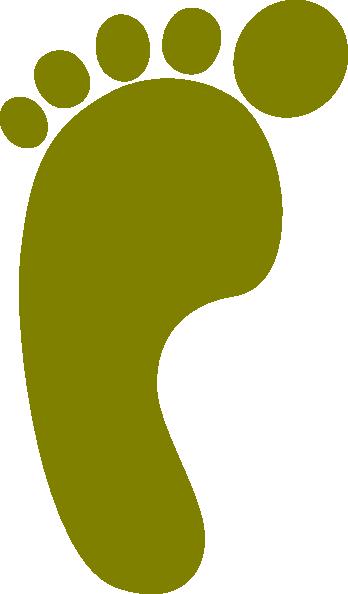 348x594 Bare Footprint Left Olive Clip Art