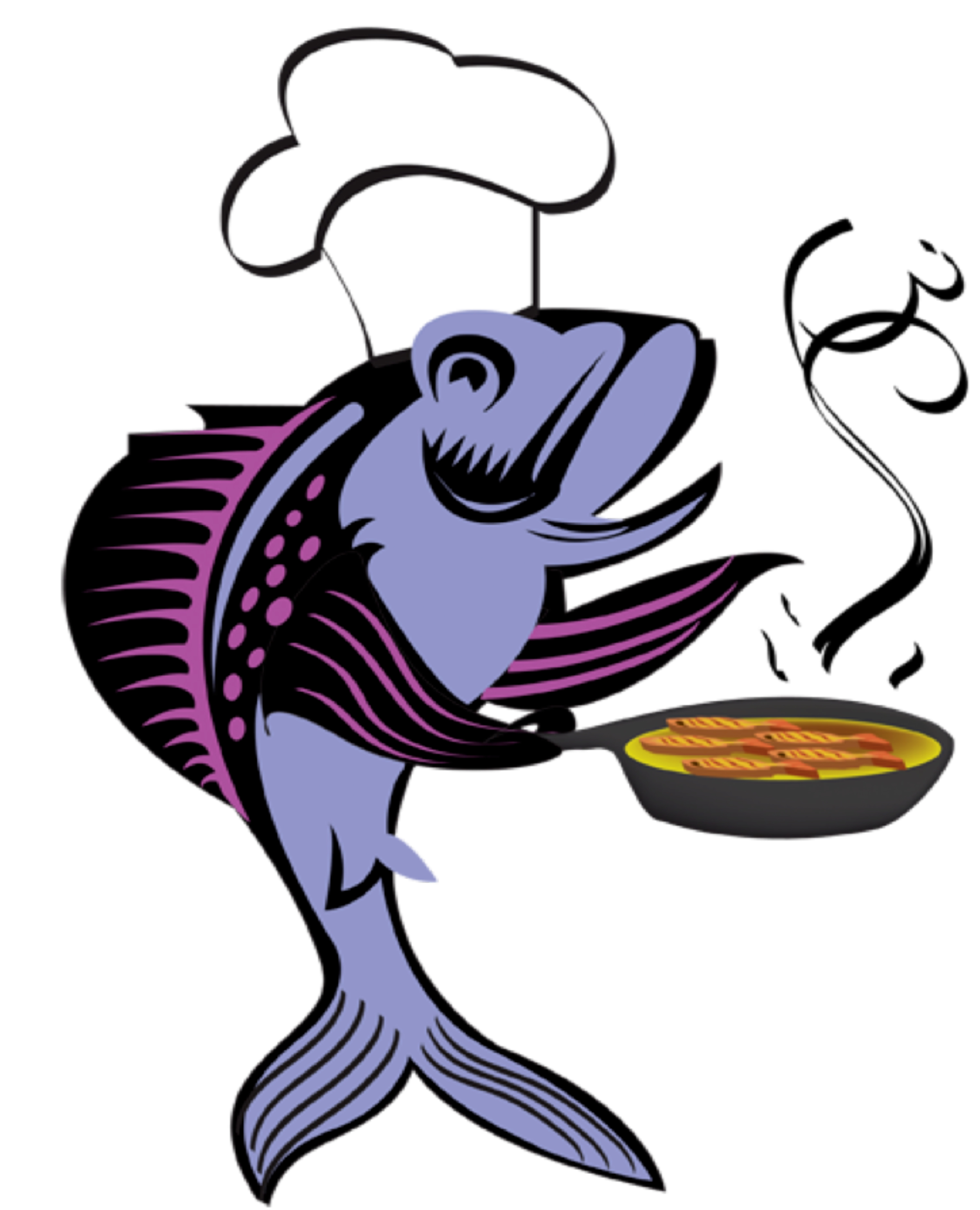 3017x3725 Fried Fish Clipart