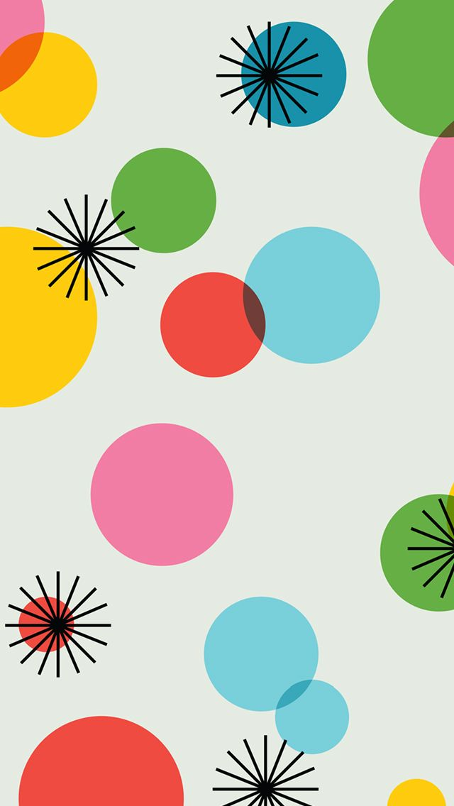 Wallpaper Polkadot Rainbow Clipart