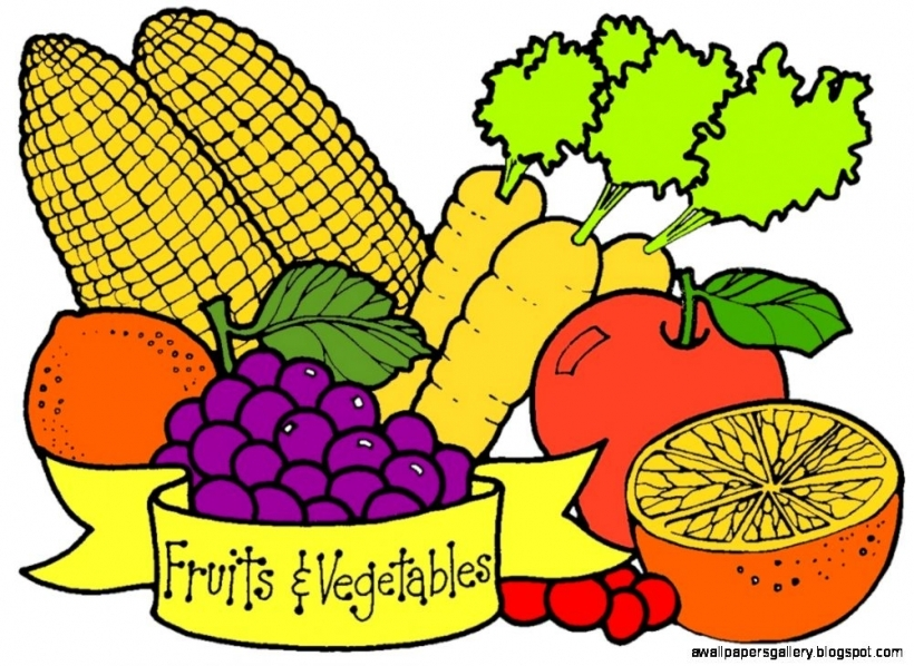 820x598 Vegetable Clip Art Wallpapers Gallery In Fruit Vegetable Clip Art