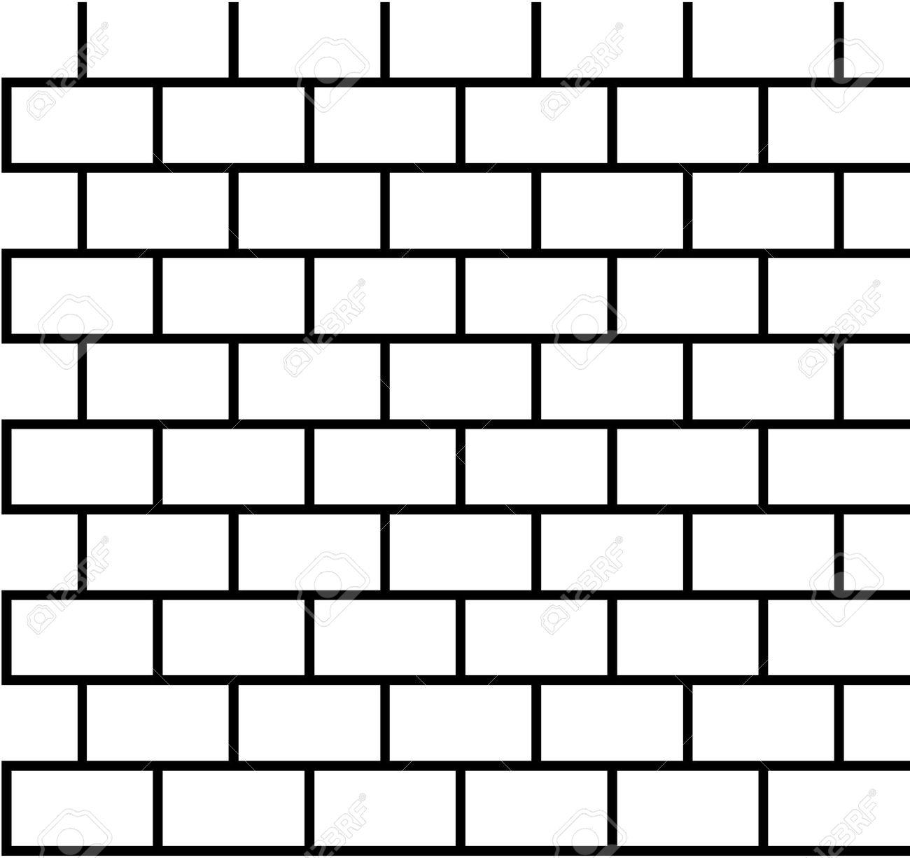 1300x1225 Clip Art Black And White Brick Wall Cliparts
