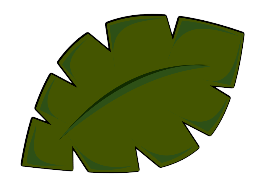 900x637 Palm Leaf Clip Art Free. Transparent Background. Less Realistic