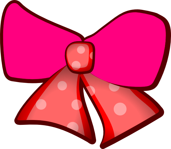 600x524 Pink Bows Clip Art