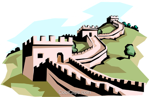 480x314 The Great Wall Of China Royalty Free Vector Clip Art Illustration