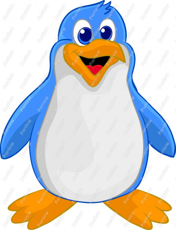 613x800 Cartoon Penguin Clip Art