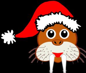 297x252 Santa Walrus Clip Art