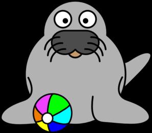 298x261 Walrus Head Cliparts 272893