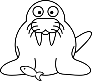 299x264 Walrus Outline Clip Art