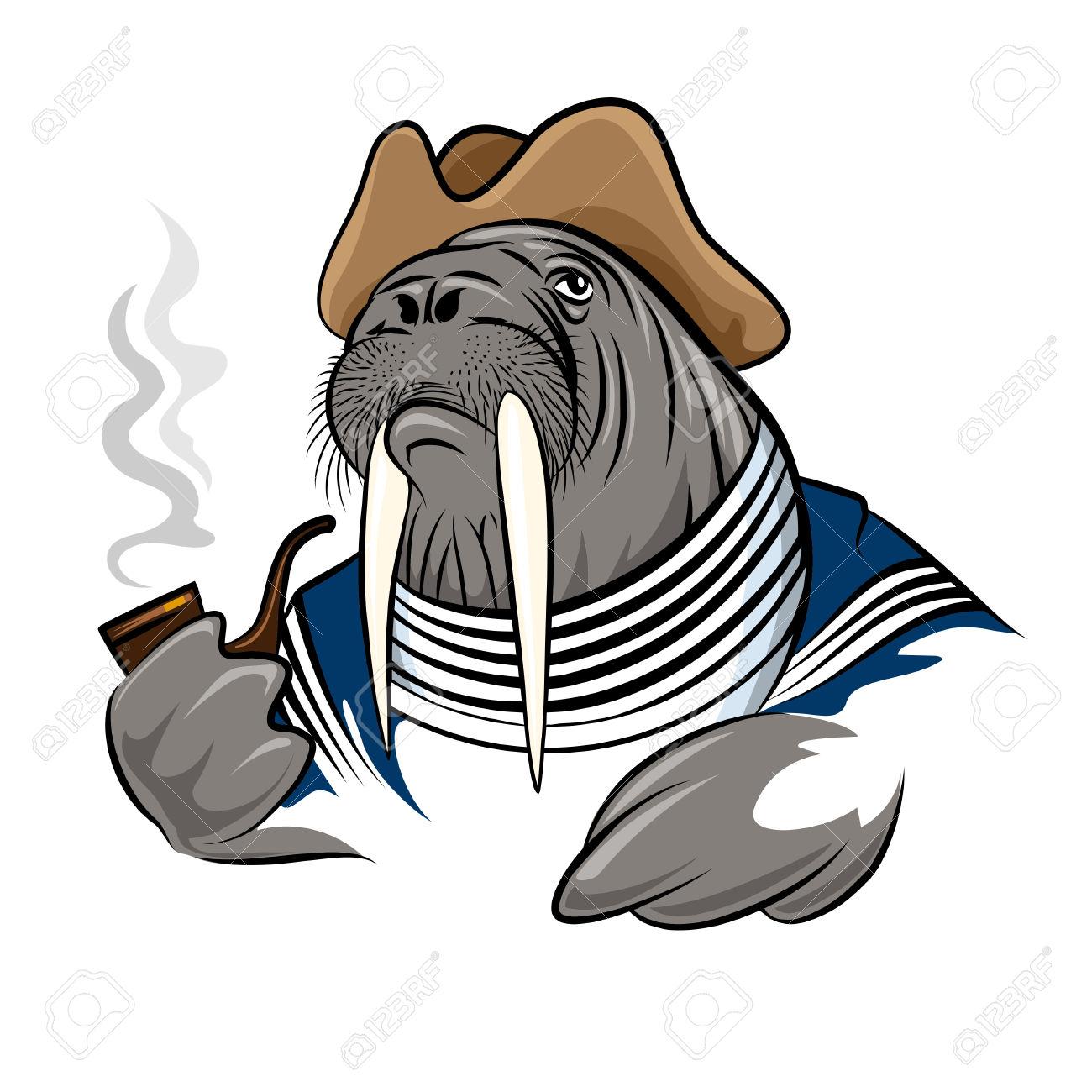 1300x1300 Walrus Clipart Cartoon