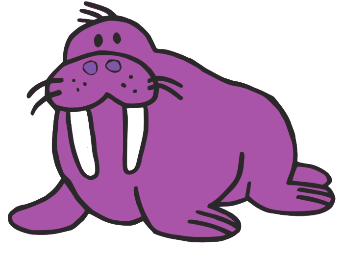 700x525 Walrus Clipart Purple