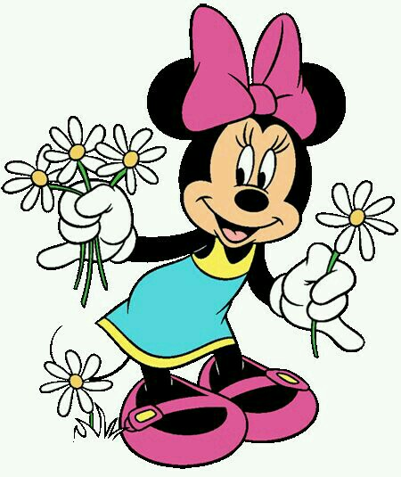 450x535 Minnie Picking Daisies On A Beautiful Summer Day My Favorite