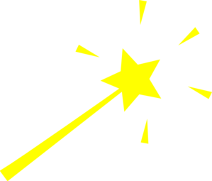 299x255 Yellow Wand Clip Art