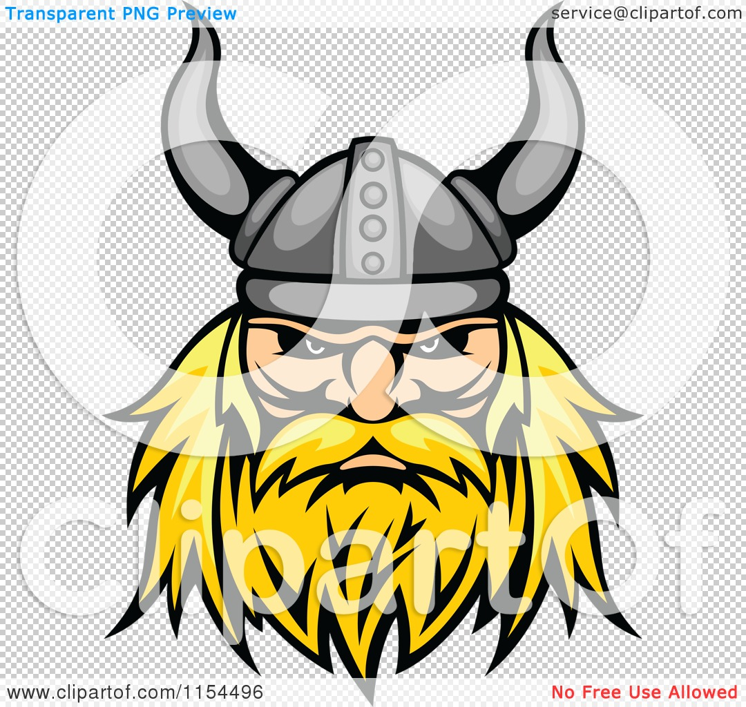 1080x1024 Clipart Of An Aggressive Blond Viking Warrior Face