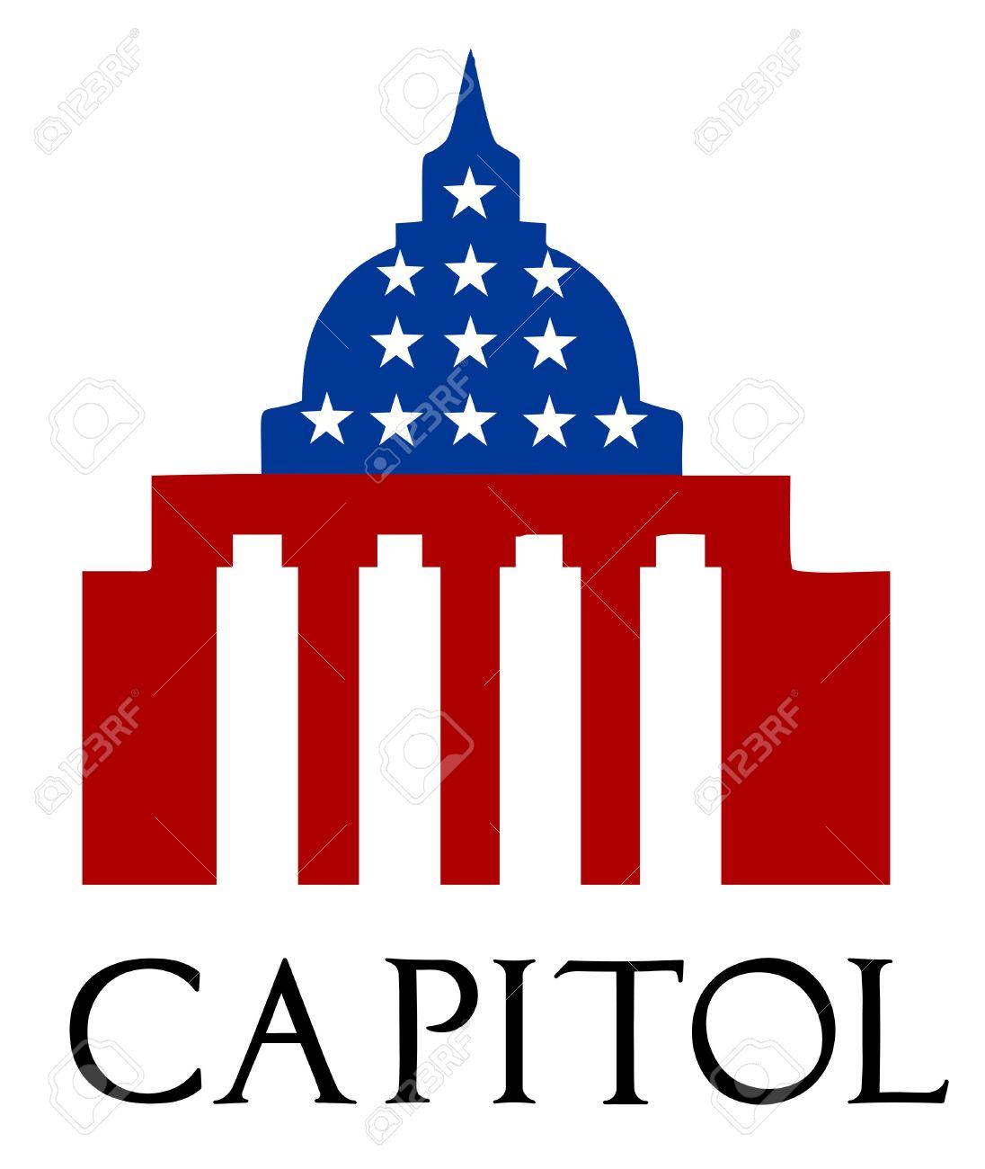 1096x1300 Illustration Of The U S Capitol, Washington D C Silhouette Royalty