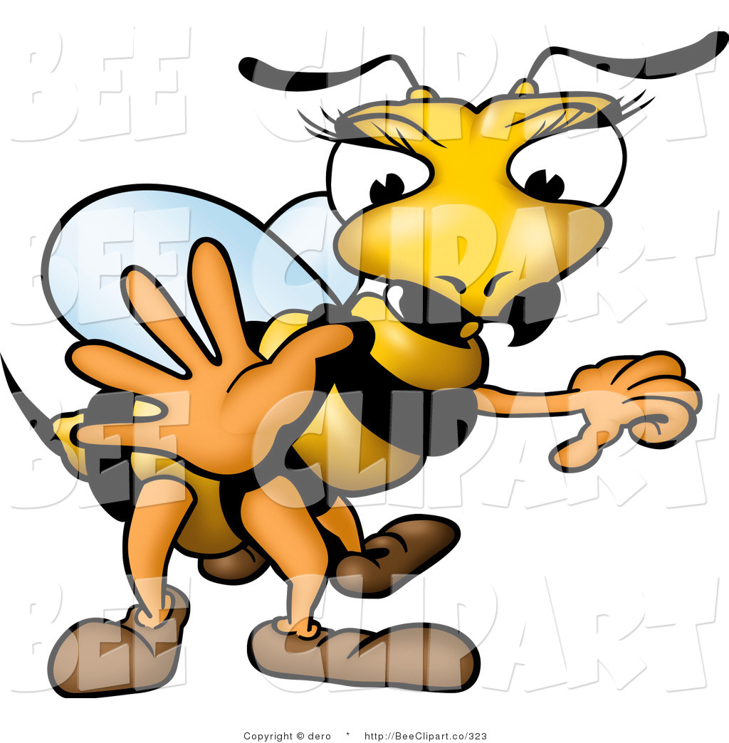 1024x1044 Clip Art Of A White And Yellow Female Wasp With Pretty Eyelashes