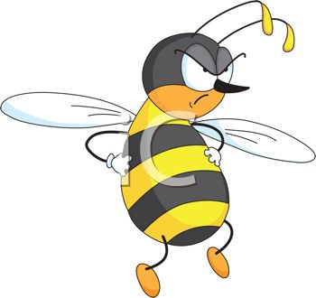 350x330 Picture Ofnngry Honeybee With His Hands On His Hips In