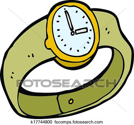450x420 Clipart Of Cartoon Wrist Watch K17744800