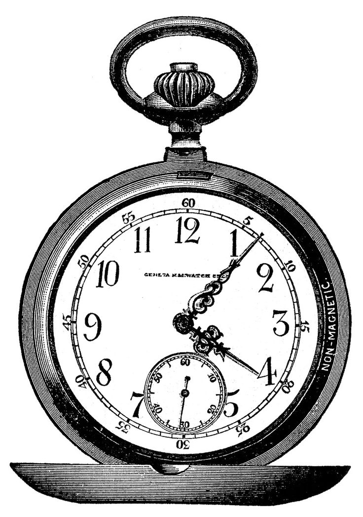 Watch Clipart Black And White