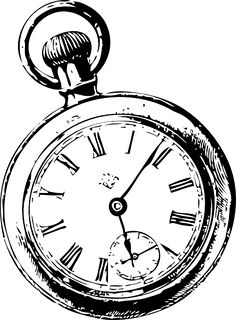 236x320 Pocket Watch Clipart Black And White