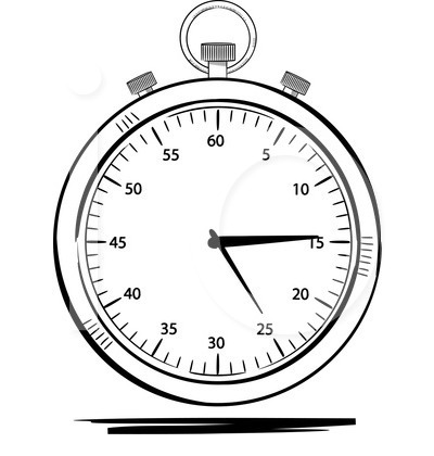 400x420 Stop Watch Clipart