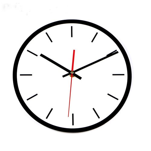 500x500 Wall Clock Clipart Black And White