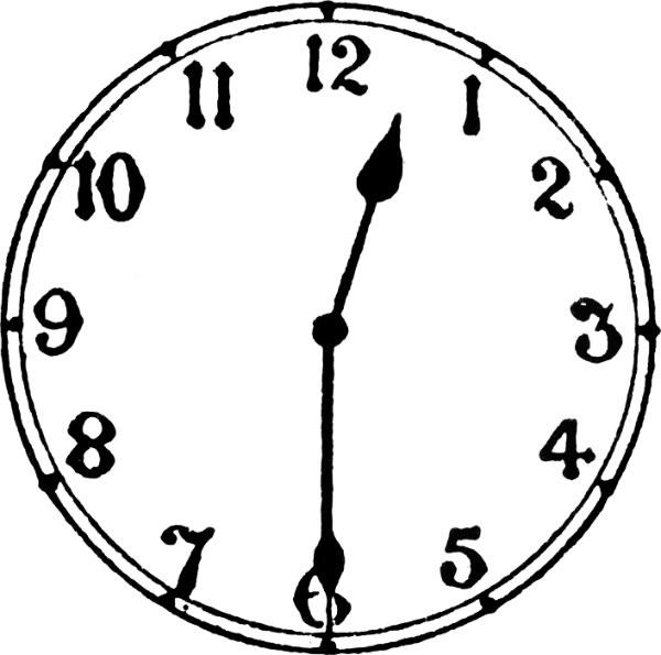 600x595 Analog Clock Clip Art