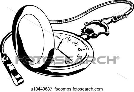 450x311 Clip Art Of Pocket Watch U13449687