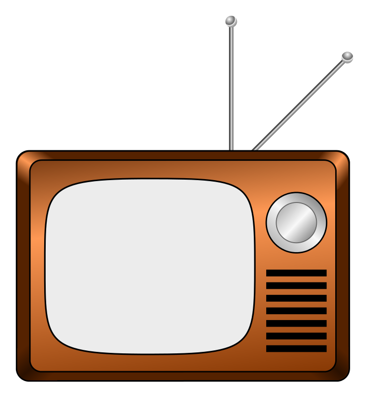 743x800 Free Clipart + Tv