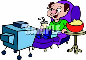 300x212 Image A Man Watching Tv With A Bowl Of Popcorn And A Soda