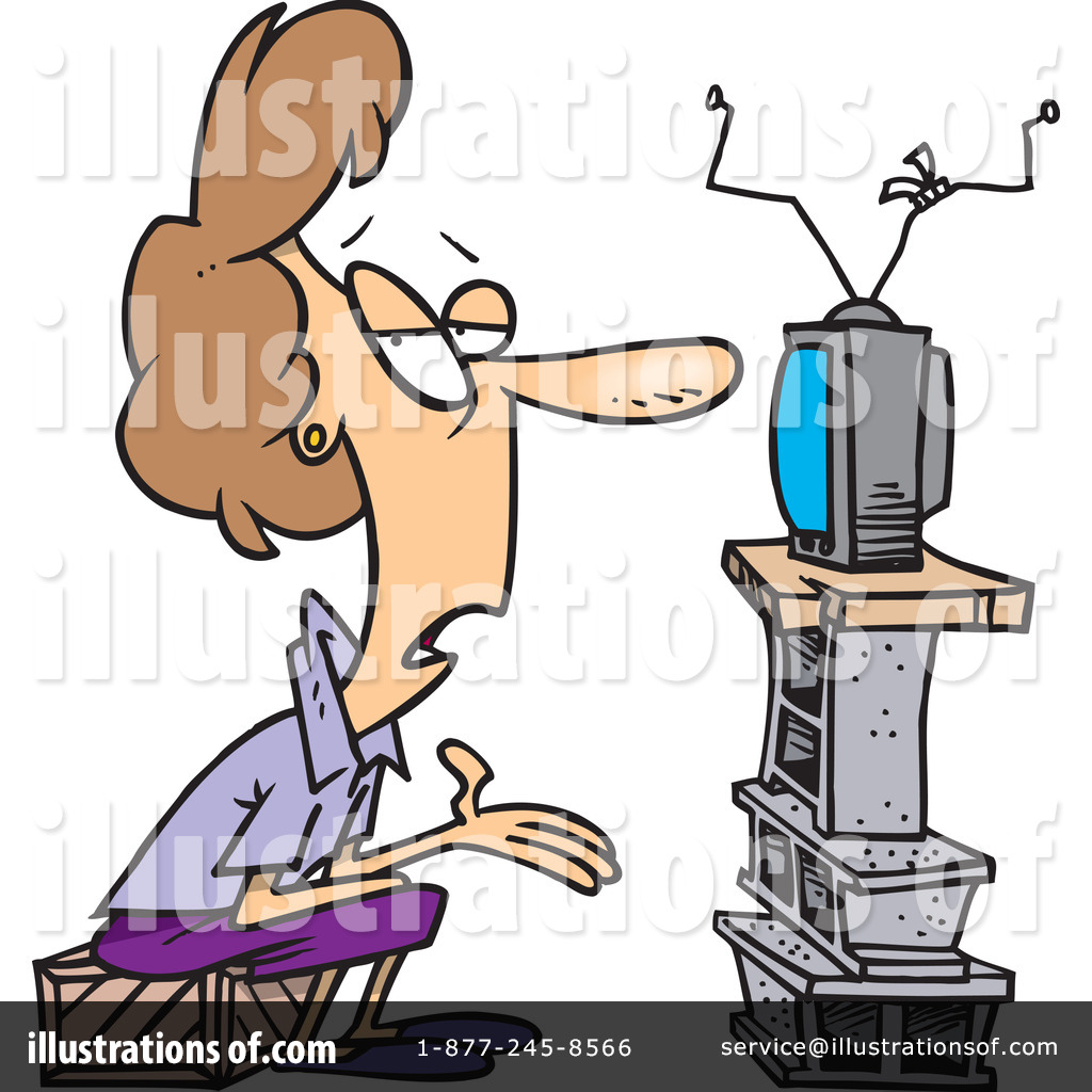 1024x1024 Watching Tv Clipart