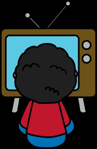 313x479 Child Watching Tv Clip Art