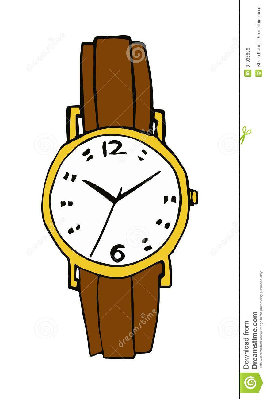 871x1300 Watch On Wrist Clipart