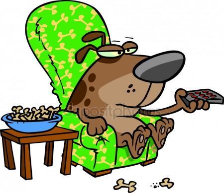 450x389 Dog Watching Tv Stock Vectors, Royalty Free Dog Watching Tv