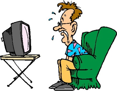 400x309 Girl Watching Tv Clipart Free Images