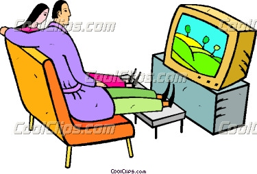 375x254 Baby Watching Tv Clipart
