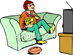 300x224 Watching Tv Clipart