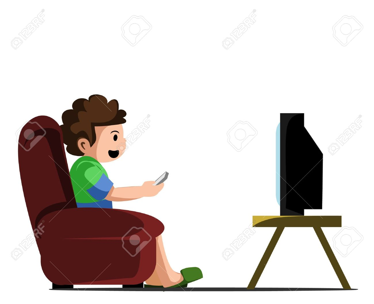 1300x1058 Watching Tv Royalty Free Cliparts, Vectors, And Stock Illustration