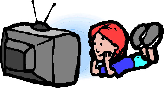 532x288 Watching Television Clipart