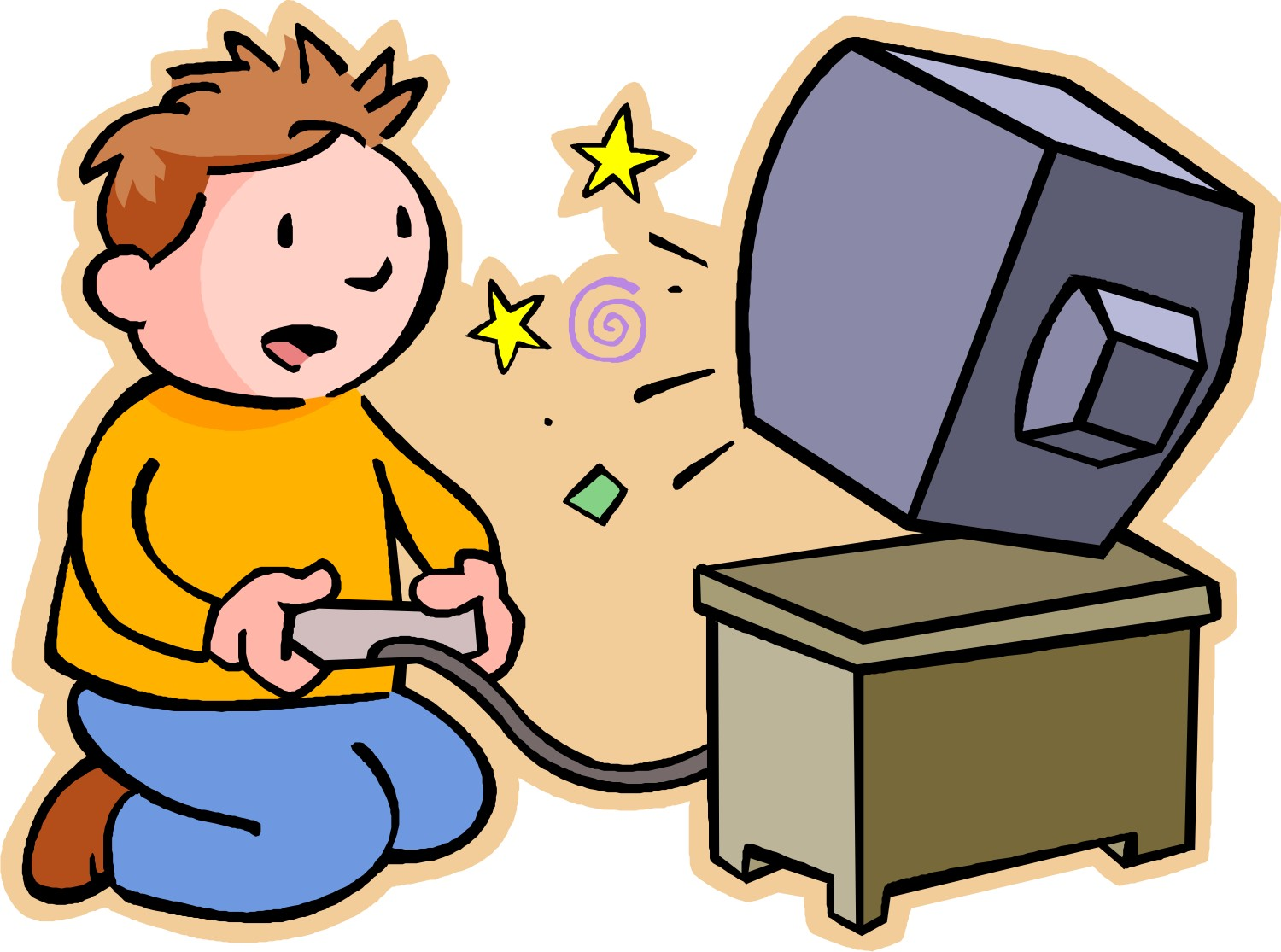 1500x1115 Tv On Computer Clipart
