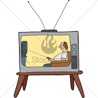 325x325 Cartoon Of Lazy Drinking Man On A Couch With Tv Remote Gl Stock