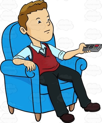 333x400 Watching Tv Clipart