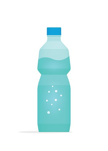 352x490 Water Bottle Plastic Vector Illustration Isolated on White