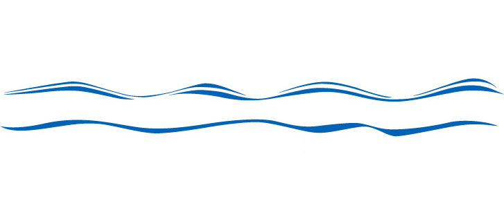 727x288 Line water waves border clipart free images