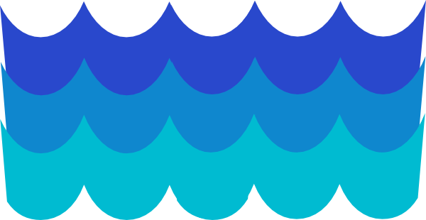 600x310 Water waves border clipart free clipart images
