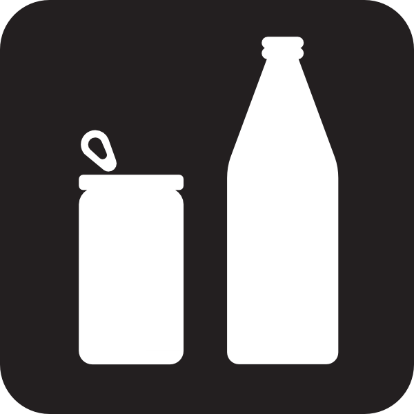 600x600 Cans Or Bottles Black Clip Art