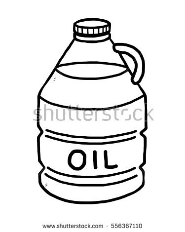 375x470 Oil Clipart Black And White