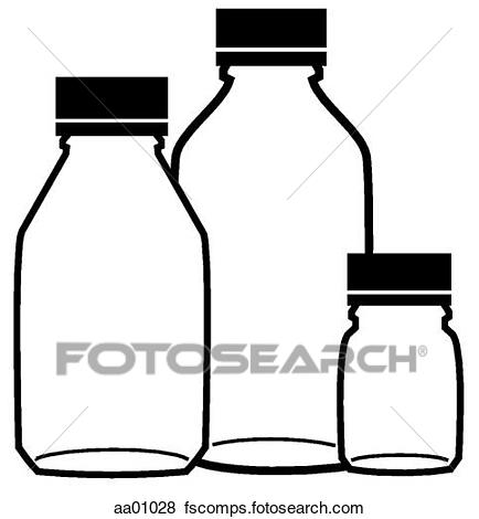 434x470 Stock Illustration of Liquid drug bottles aa01028