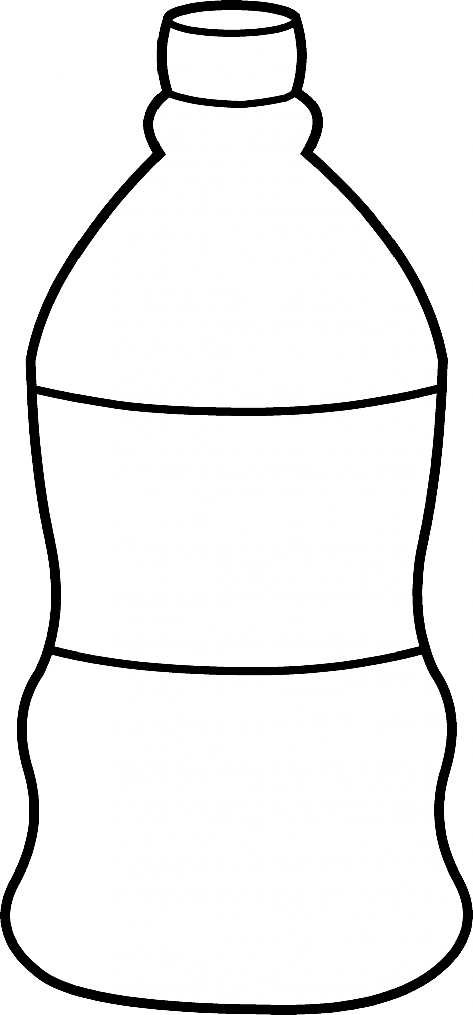 940x2016 Black And White Bottle Clipart